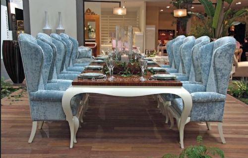 Luxus Dining Collection in Blue and White